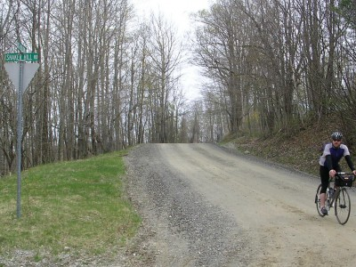 Dropped my chain into the little ring somewhere on Shaker Mountain Road... a fast descent awaits after the left turn.