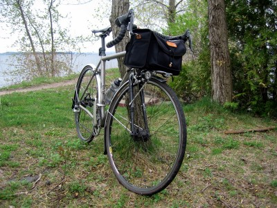 The IF with Acorn Bag, Mark's Rack and Edeluxe. I'll add a small seat pack for tools, tubes, and other small items.