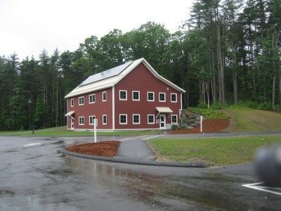 Timber frame school house (solar on the roof, geothermal heating and cooling, FSC certified timber... and a potential LEED certification!