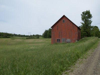Almost home - barn on Baldwin Rd.